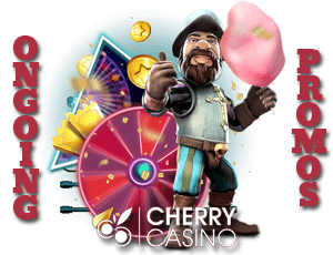 Cherry Casino has super ongoing promotions with many free spins and deposit bonuses
