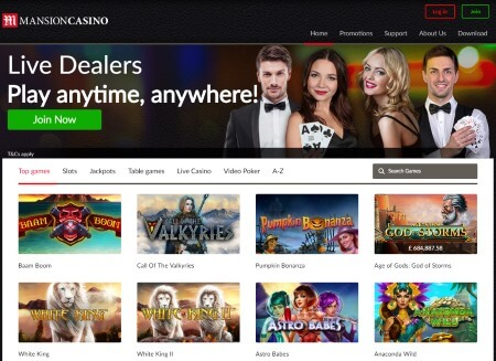 Mansion Casino is the first online casino based on Les Ambassadeurs Club, one of the finest gaming locations in England.