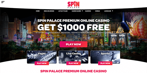 Spin Palace Sign Up