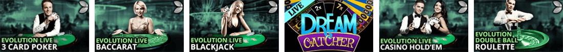 Play many popular titles at All Slots live casino