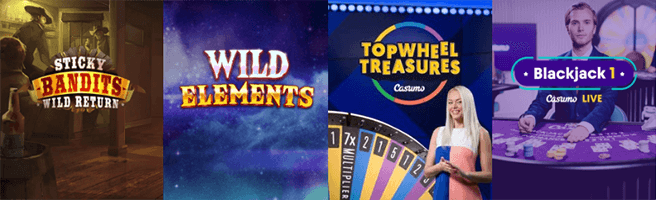 Casumo Casino has rich selection of games with 500+ exclusive titles.