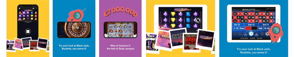 You can play everywhere and on all of your devices with Casumo casino mobile app.