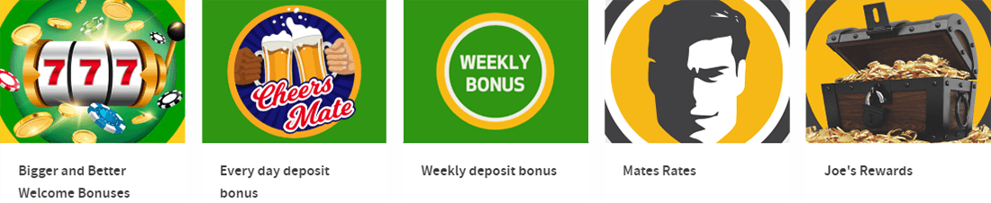 Joe Fortune casino has a plenty of bonuses and daily offers