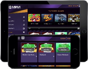 You can find all your favorite games on Miami Club mobile casino, but unfortunately, there is no native app.