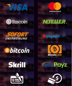 The casino operates on the US Dollar Currency and support all popular payment methods.