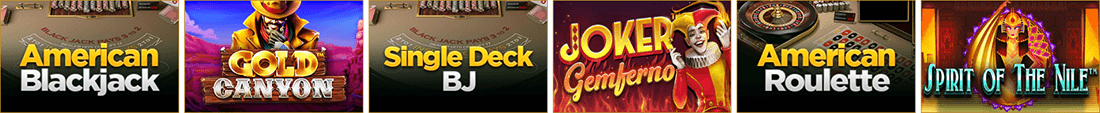 There is a big variety of games at Wild Casino mostly provided by Betsoft